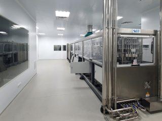 Монтаж линии по производству инфузионных растворов